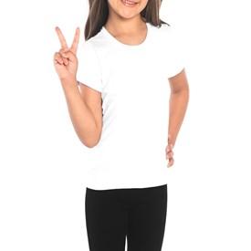 Camiseta Infantil Baby Look Boca Grande Branca