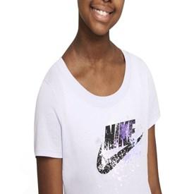 Camiseta Infantil Nike Sportswear Lilás
