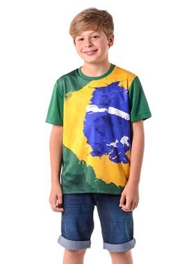 CAMISETA INFANTIL SOLIMÕES VERDE BRASILINE
