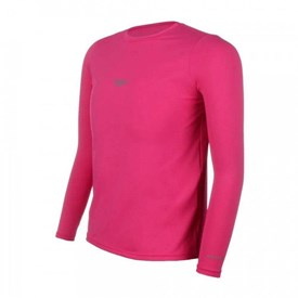 Camiseta Infantil Speedo Manga Longa UV Protection Rosa
