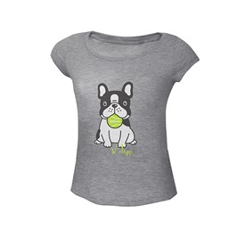 Camiseta Infantil Wilson Dog Infantil Mescla Cinza