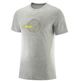 Camiseta Infantil Wilson Tennis Ball Cinza Mescla
