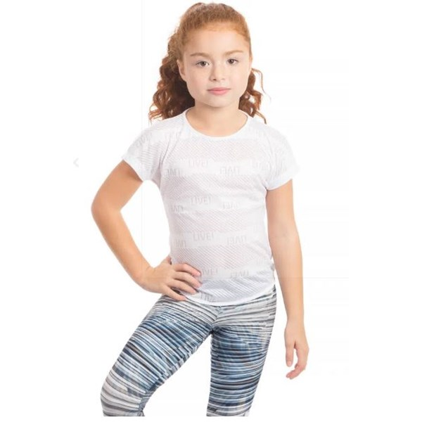 Camiseta Live Color Crush Infantil Branco