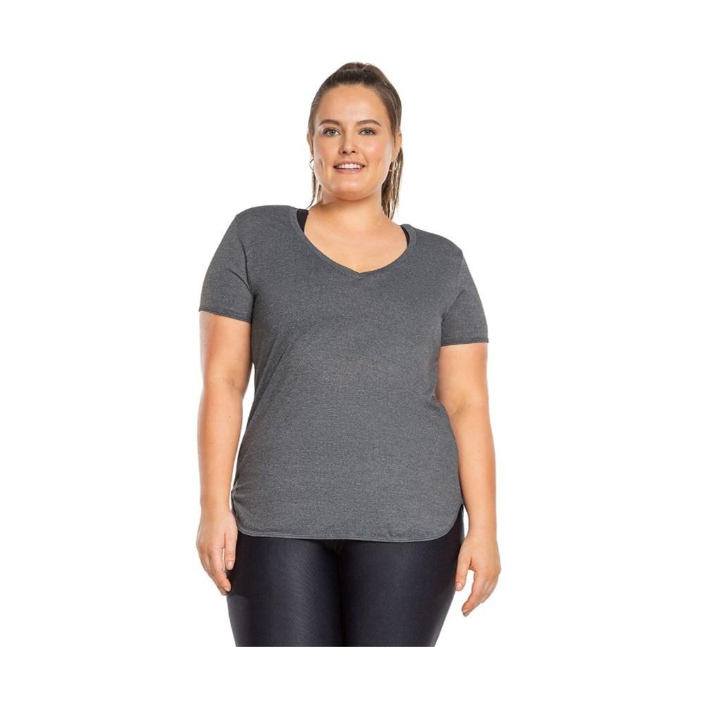 Camiseta Live Comfy Plus Size Mescla
