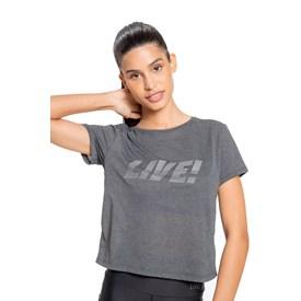 Camiseta Live Comfy Reflex Mescla Chumbo