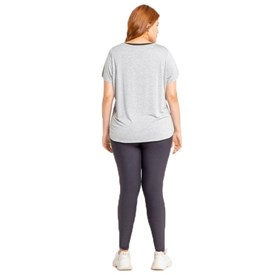 Camiseta Live Holographic Plus Size Mescla