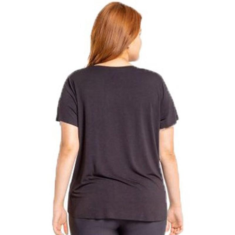 Camiseta Live Holographic Plus Size Preto