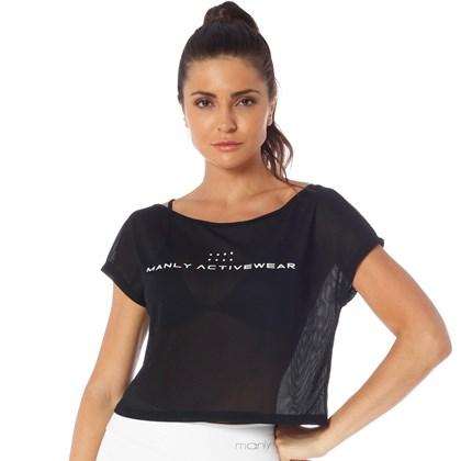 Camiseta Manga Curta Manly Preto