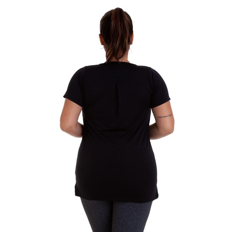 Camiseta Manga Curta Plus Size Best Fit Dry Preta