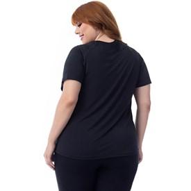 Camiseta Manga Curta Vestem Plus Size True Preta