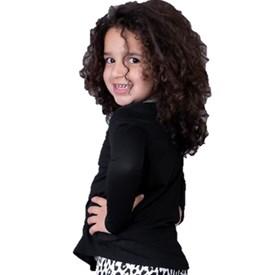 Camiseta Manga Longa Infantil LeFruFru Preta