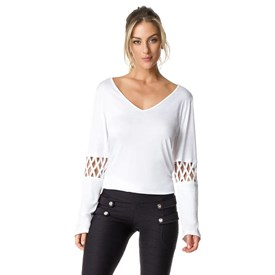 Camiseta Manga Longa Vestem Morocco Branca