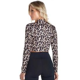 Camiseta Manga Longa Vestem Once Leopard