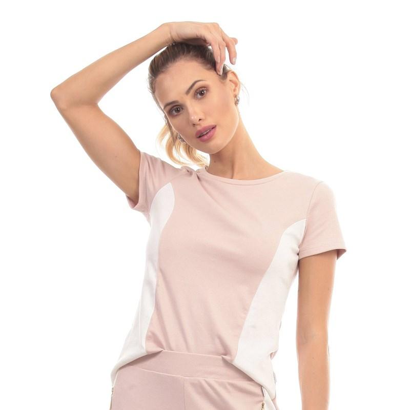 Camiseta Manly Suedine Rose
