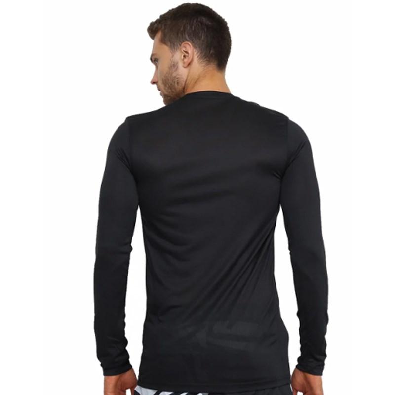 Camiseta Masculina Manga Longa Nike Dri-Fit Preta