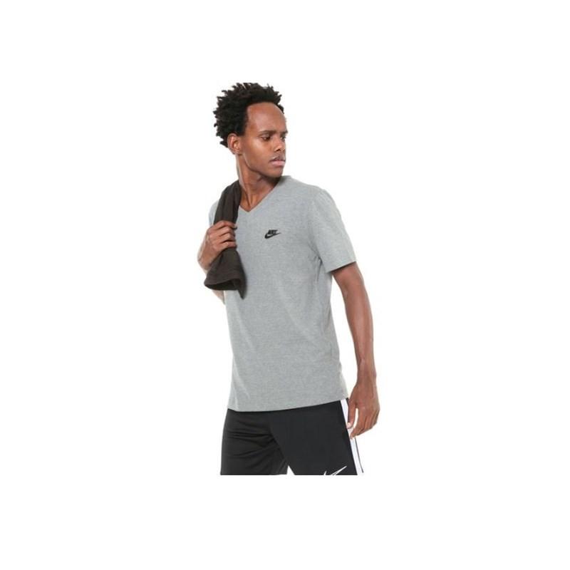 Camiseta Nike m/c NSW Club Cinza