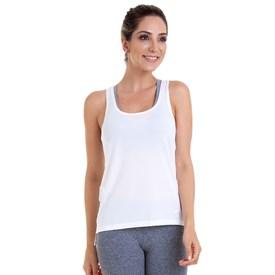 Camiseta Regata Best Fit Quadrada Dry Branca