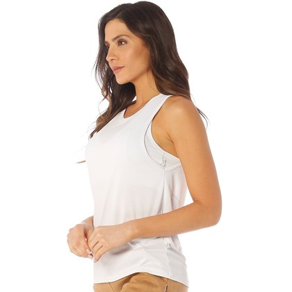 Camiseta Regata  Dry Manly Branco