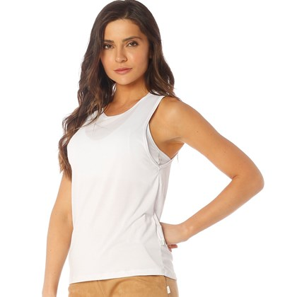 Camiseta Regata  Dry Manly Branco