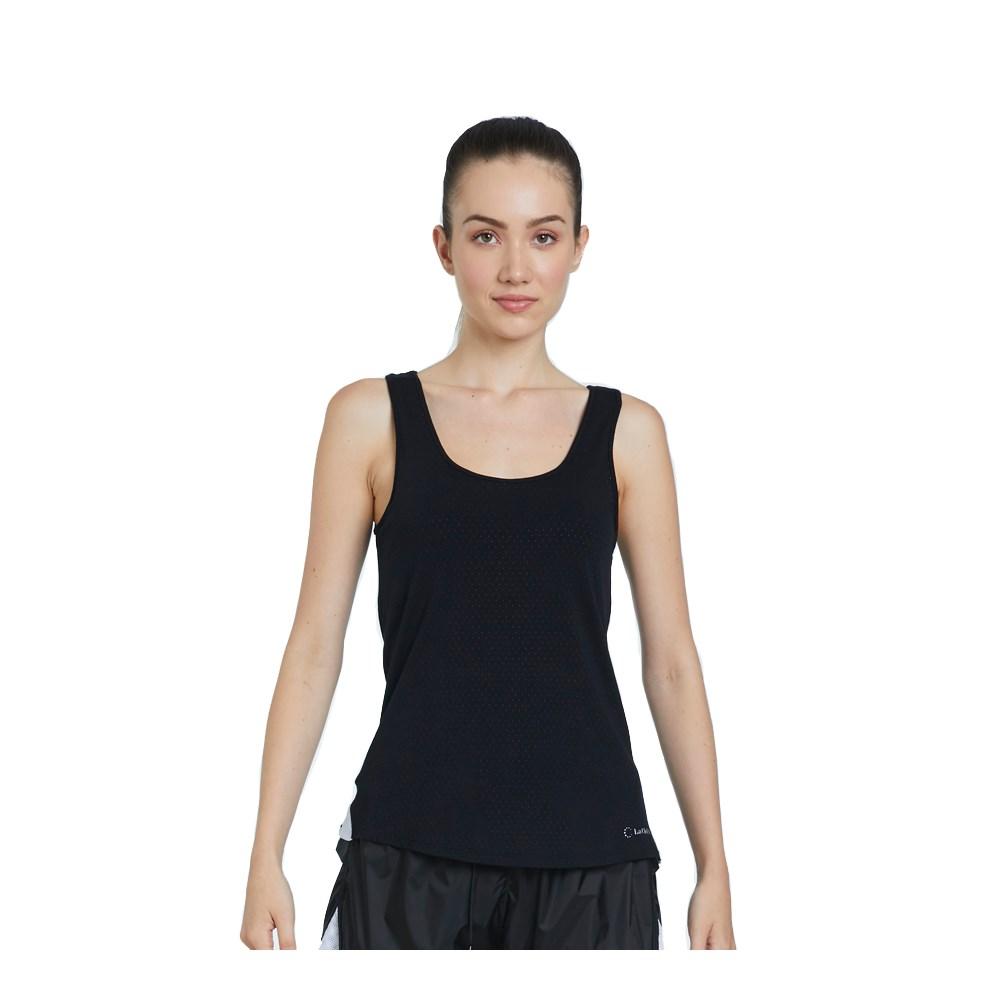 Camiseta Regata La Clofit Air Preta com Detalhe Branco
