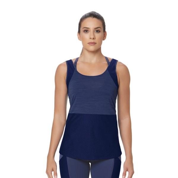 Camiseta Regata La Clofit Basic Azul Marinho