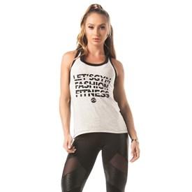 Camiseta Regata  Let'sGym Fashion Fitnes Mescla