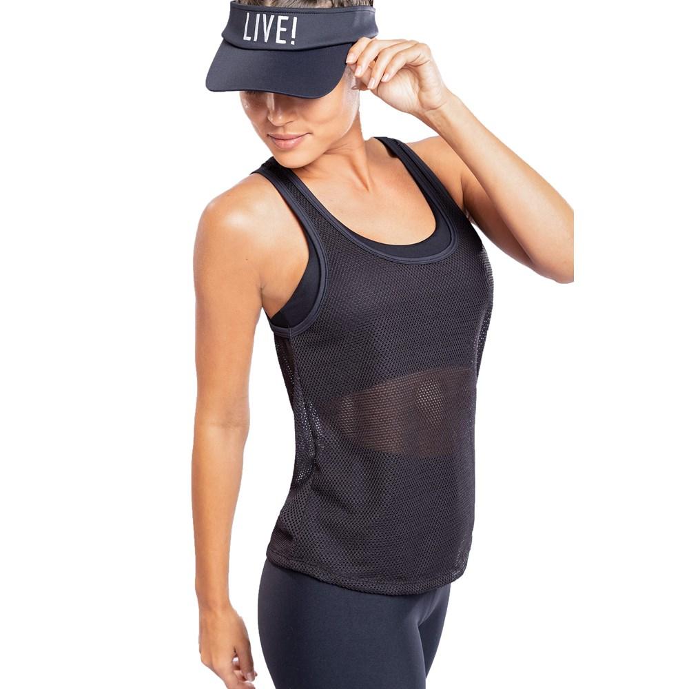 Camiseta Regata Live Air Soft Preta