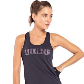 Camiseta Regata Live Run Reflex Preta