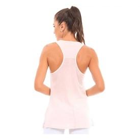 Camiseta Regata Manly Crepe Rosa