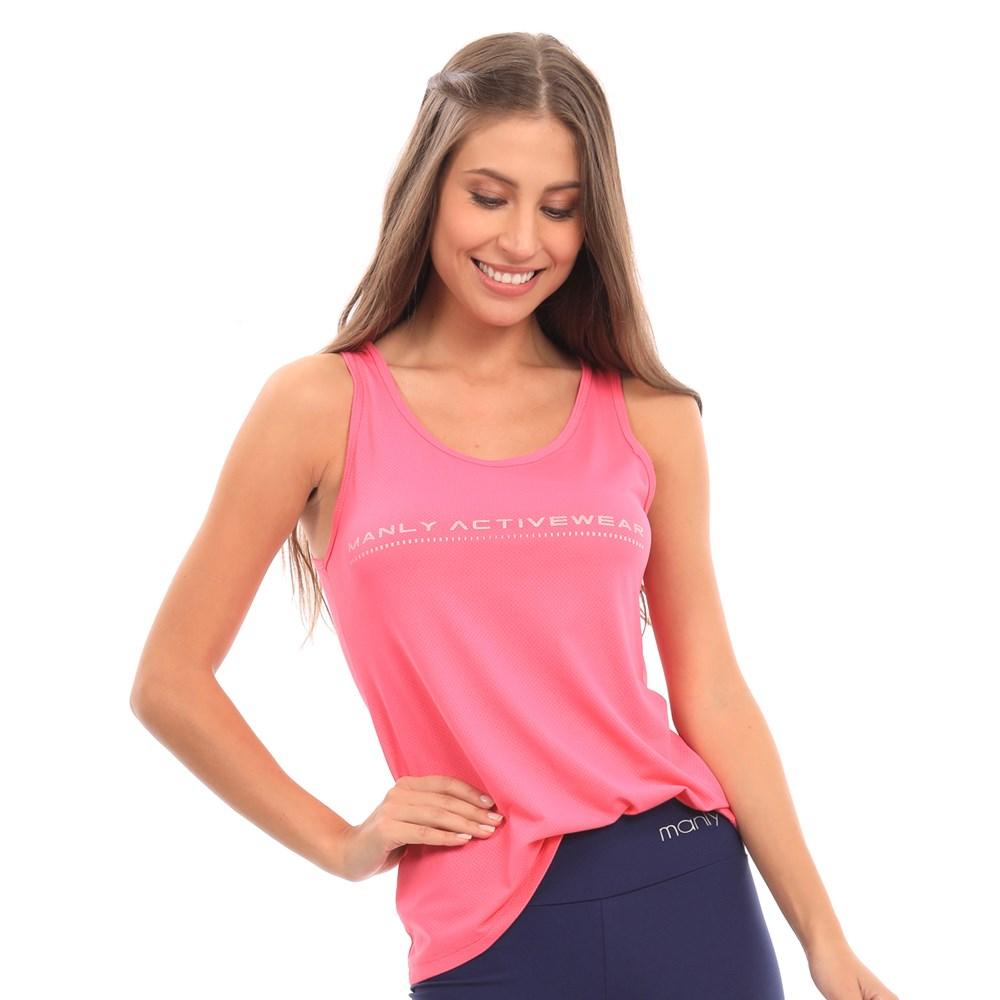 Camiseta Regata Manly Dry Rosa