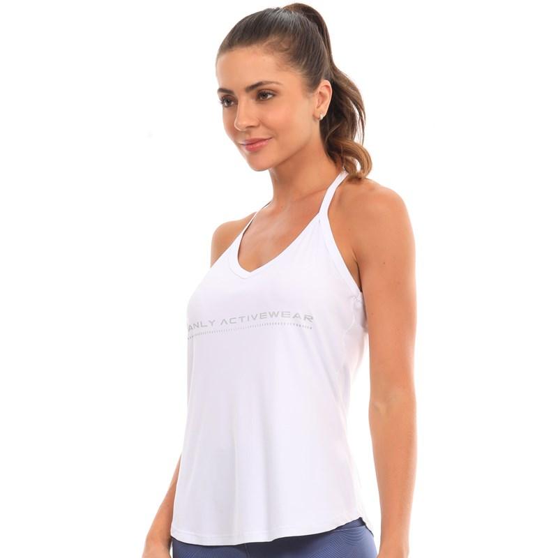 Camiseta Regata Manly Link Branca