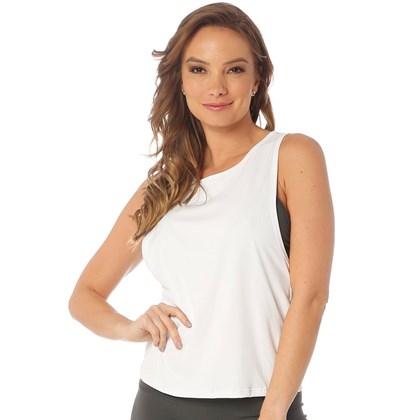 Camiseta Regata Manly Olympia Branca