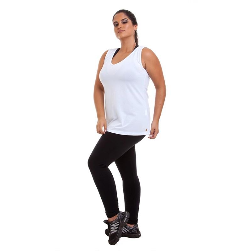 Camiseta Regata Plus Size Best Fit Branca