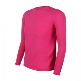 Camiseta Speedo Infantil Manga Longa UV Protection Rosa