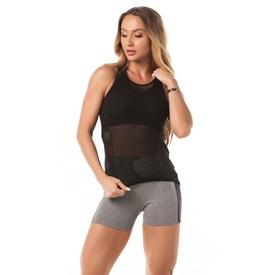 Camiseta  Tela Let'sGym Sport Preto