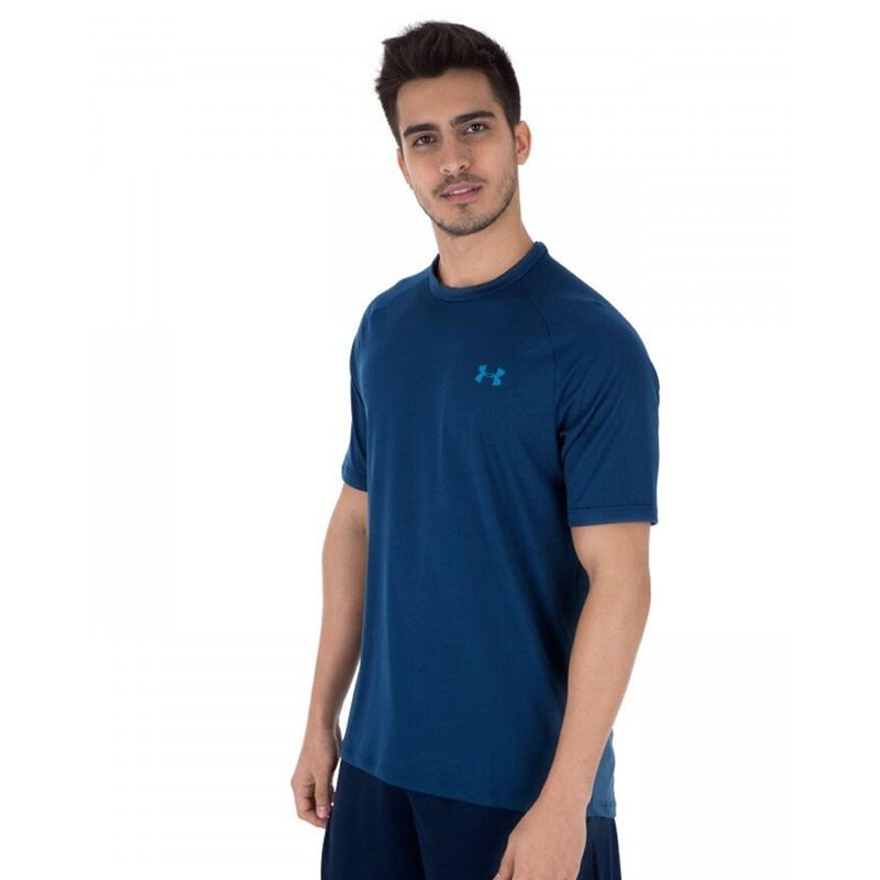 Camiseta Under Armour Tech Manga Curta Azul Marinho
