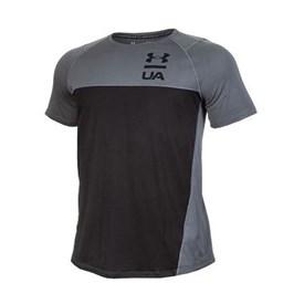 Camiseta Under Armour Tsh Manga Curta Cinza E Preto
