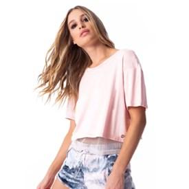 Camiseta Vestem Cropped Wave Rosa