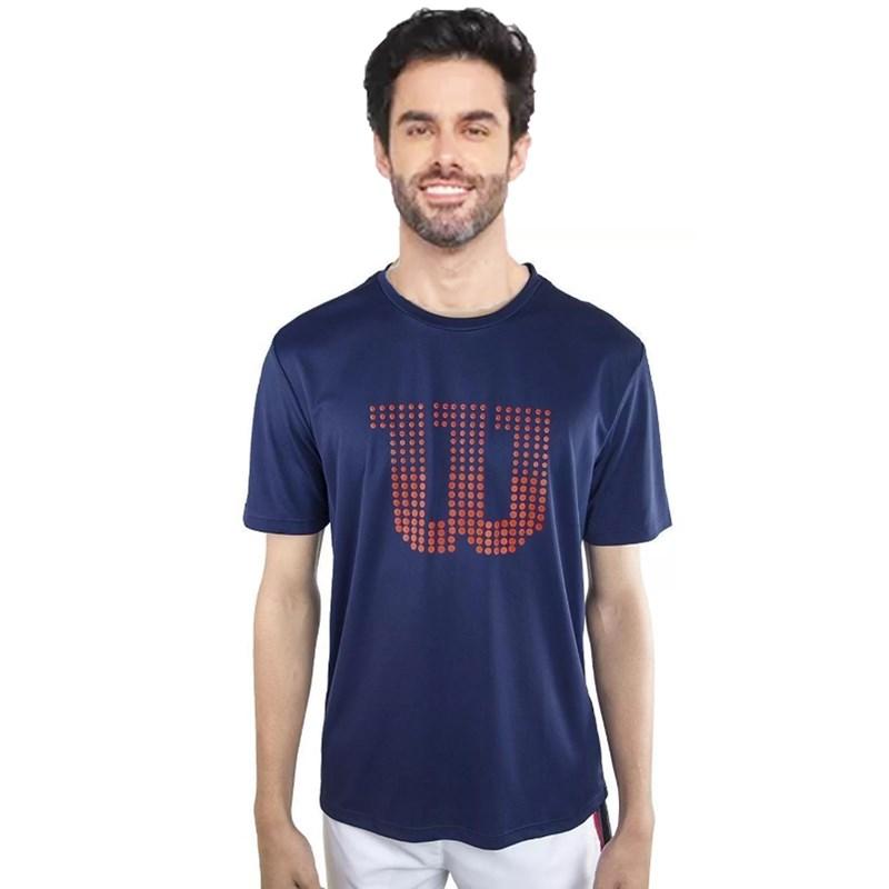 Camiseta Wilson Clay Azul Marinho