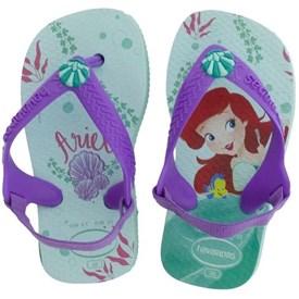 Chinelo Havaianas Baby Princesas Ariel Verde Agua