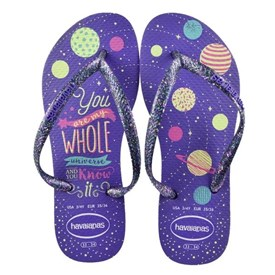 Chinelo Havaianas Infantil Slim Fashion Roxo