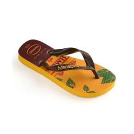 Chinelo Havaianas Top Infantil Rei Leão Amarelo