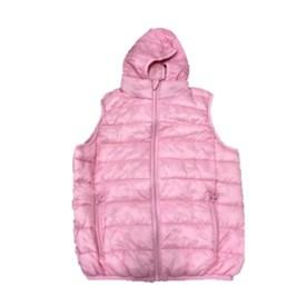 Colete Corta Vento Infantil Feminino Best Fit Puffer Rosa Claro