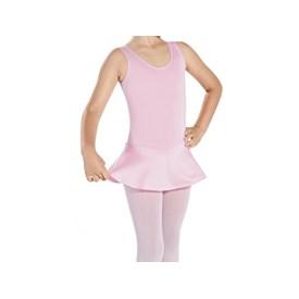 Collant Ballet Regata com Saia Infantil Capézio Rosa