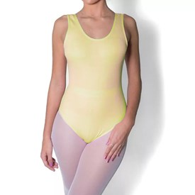 Collant Regata Capezio Adulto Amarelo Claro
