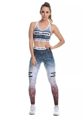 CONJUNTO FITNESS PRINTED GRAPHIC AZUL LABELLAMAFIA