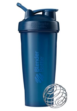 COQUETELEIRA FULL COLOR 600 ML AZUL MARINHO BLENDER BOTTLE