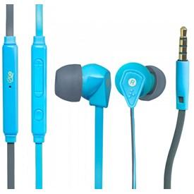 Fone de ouvido I2GO Cabo Flat Azul