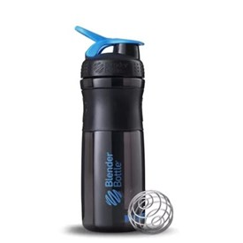 Garrafa Sport Mixer 800 Ml Preto e Azul Blender Bottle