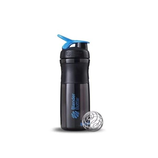 Garrafa Sport Mixer 800 Ml Preto e Azul Blender Bottle